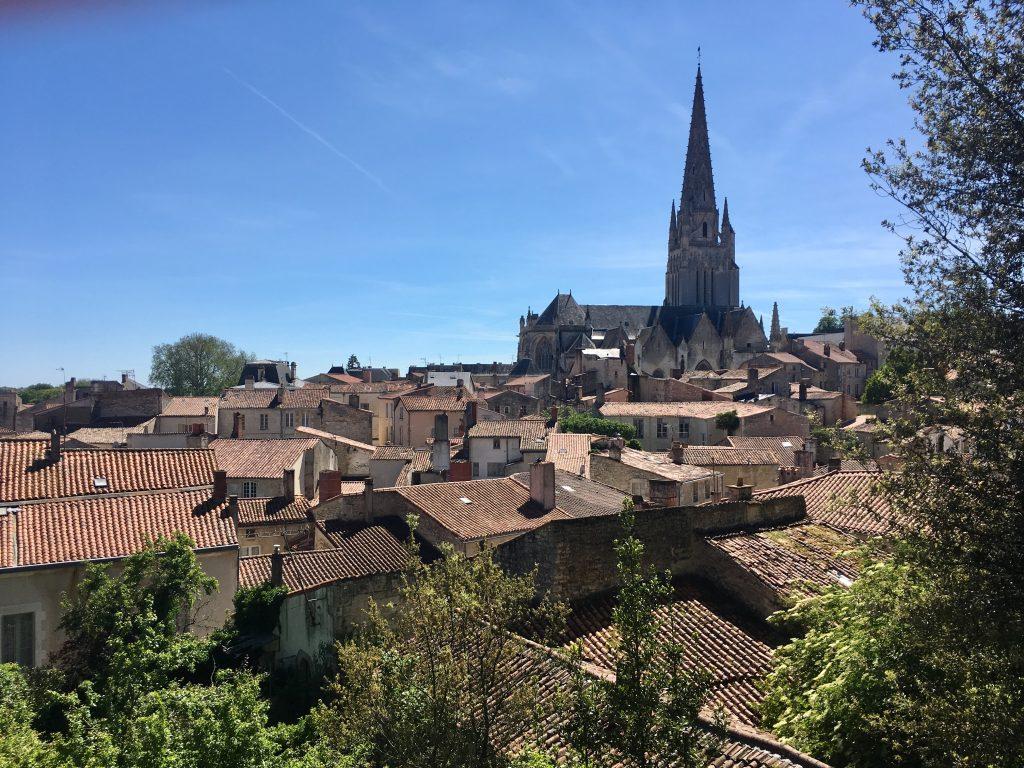 Fontenay-le-Comte depuis le parc Baron